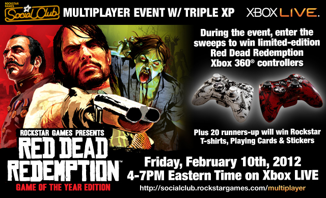 Red Dead Redemption: Triple XP weekend, Grand Prize giveaways