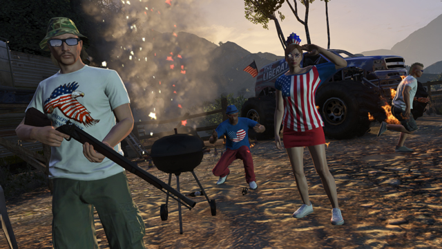 GTA 5 Independence Day Celebrations