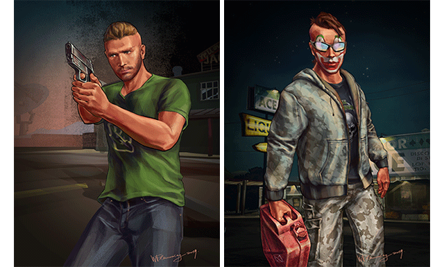 News rockstar games presents max payne 3 wflemming created these impressive digitally hand drawn portraits based on other members of her gta online crew including crew leader ajdbns87 voltagebd Image collections