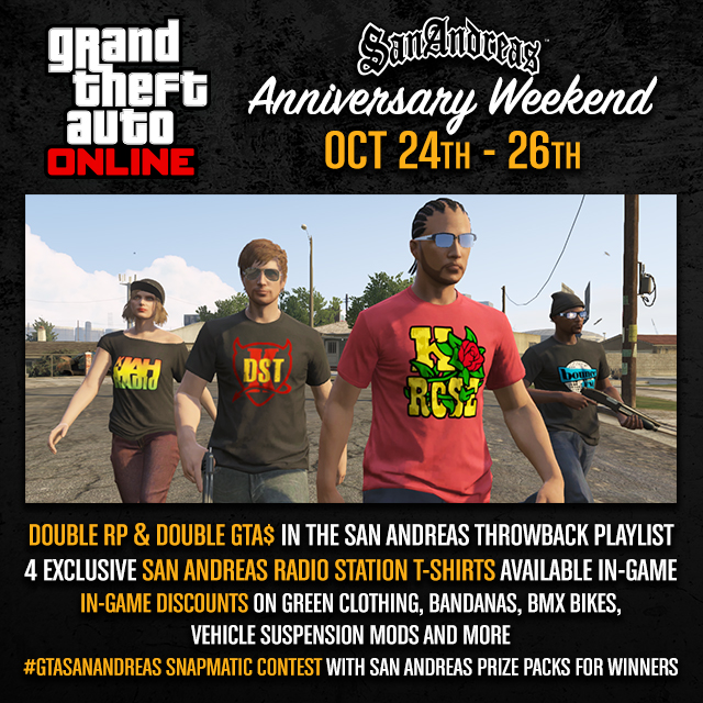 San Andreas Weekend in GTA Online