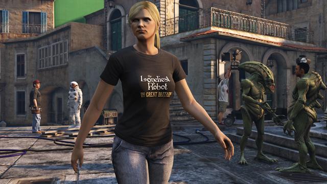 GTA 5 Loneliest Robot T-shirt