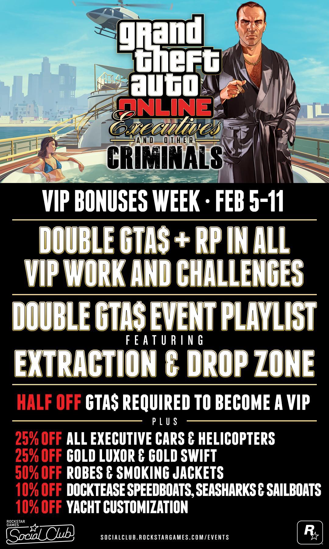 VIP bonuses week