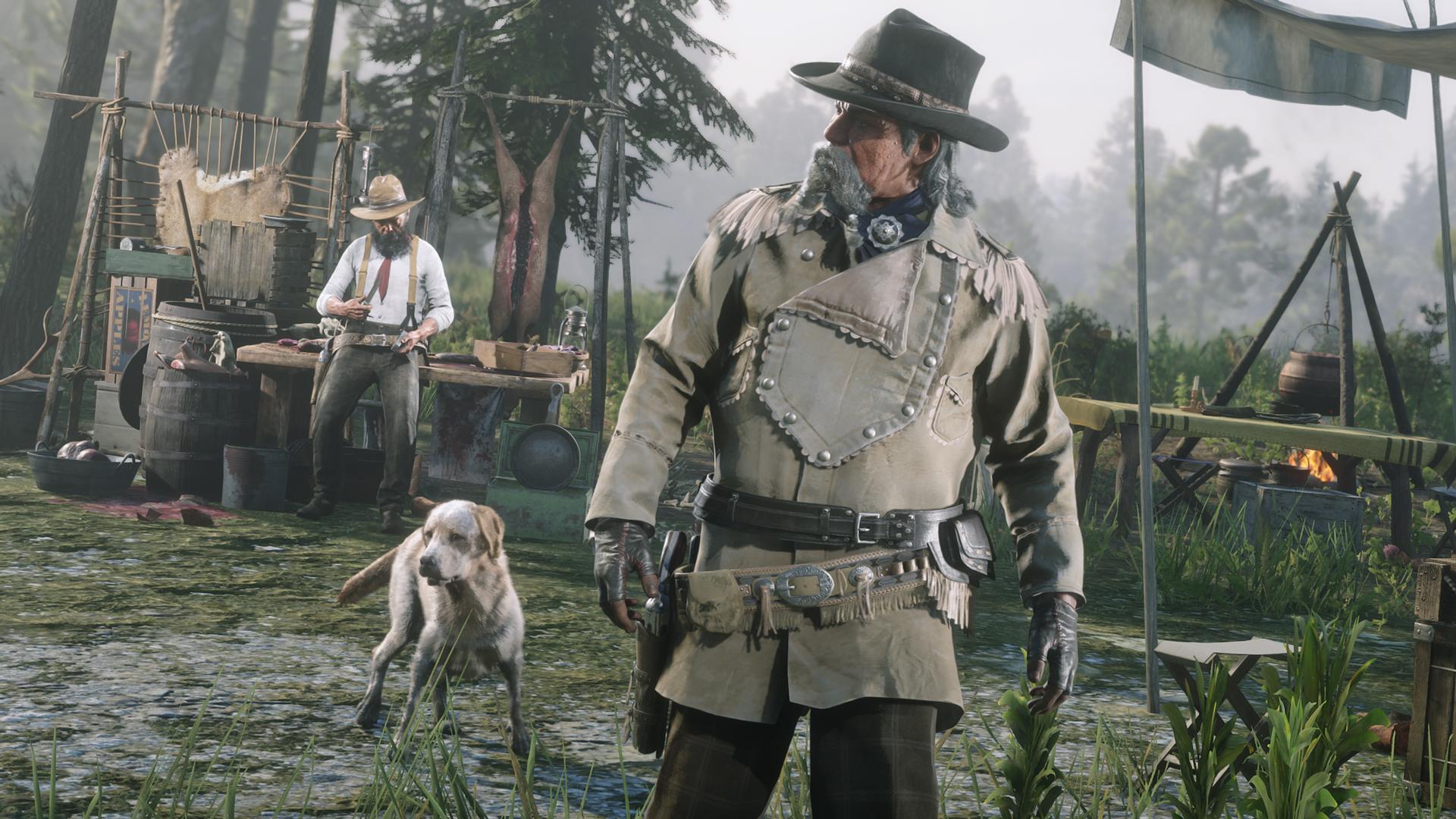 El Comerciante podrá vender carne y pieles de animales en su campamento