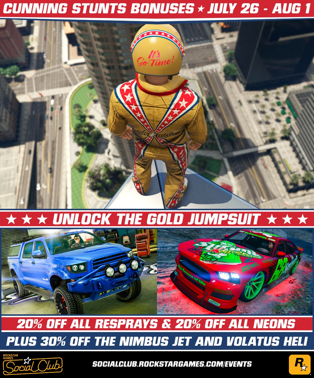 Play 5 New GTA Online: Cunning Stunts Races Today + New