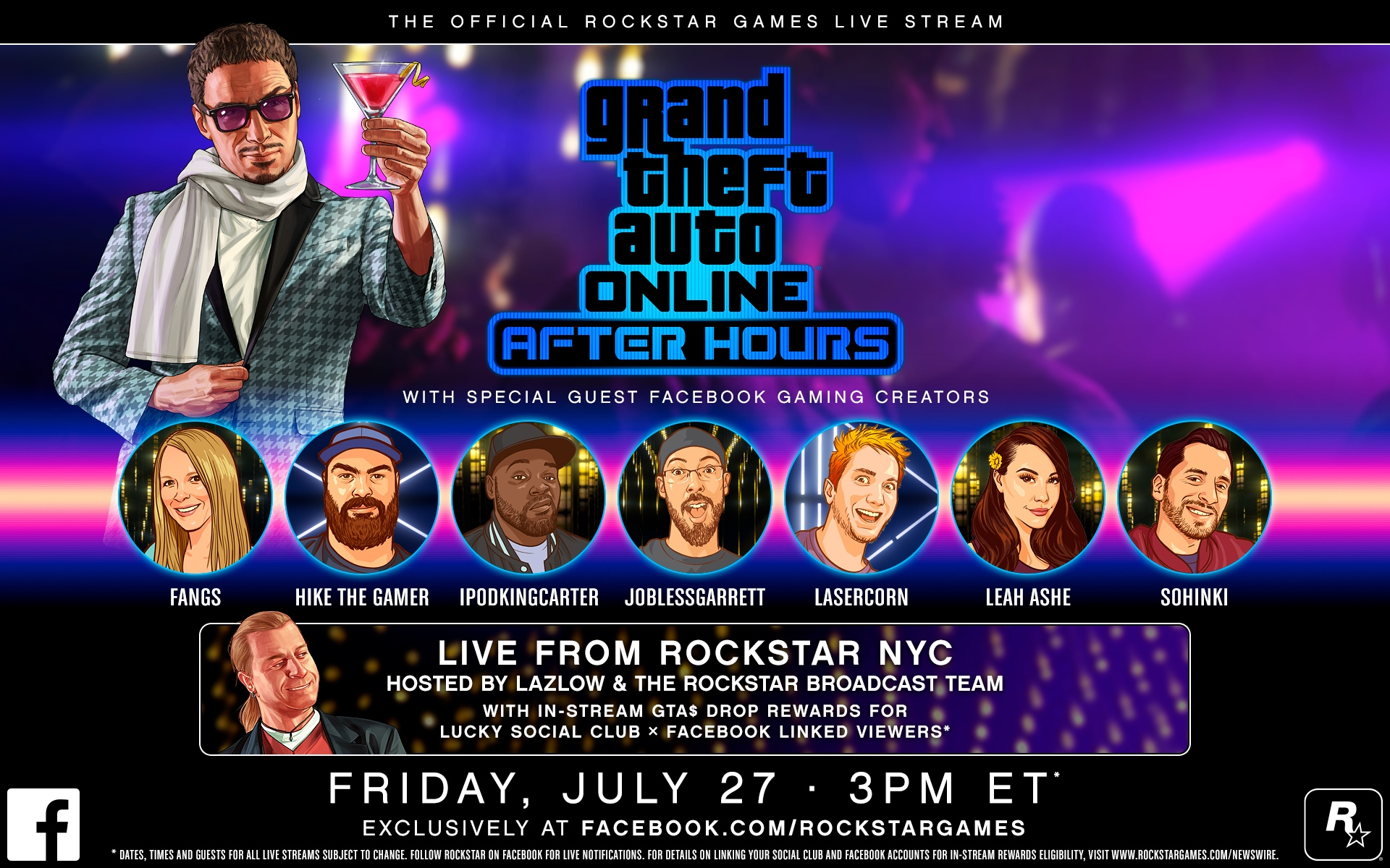 Get Ready For The Gta Online After Hours Live Streams Series Exclusively On Facebook Where Lucky Linked Viewers Will Have The Chance To Score In Stream