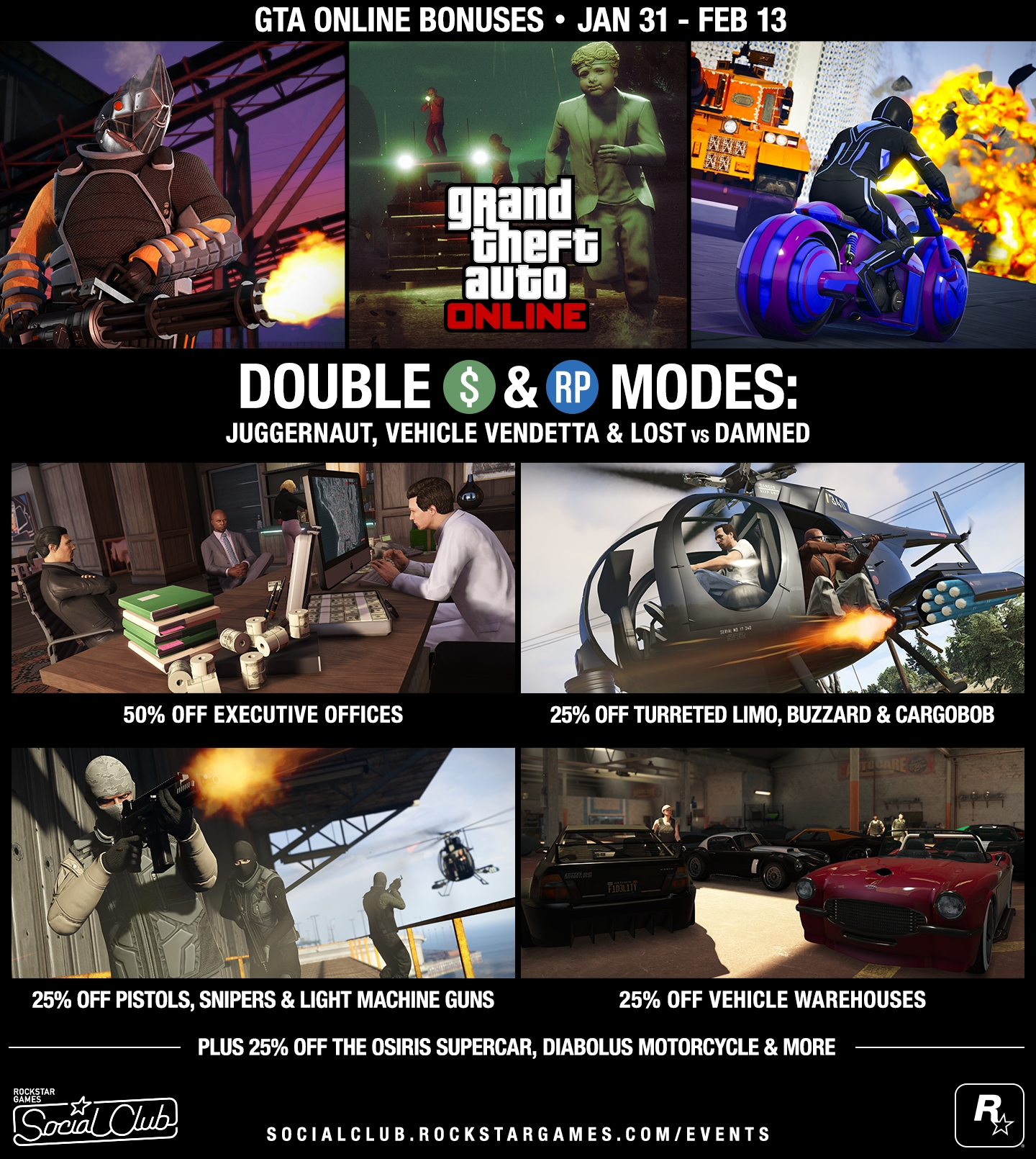 GTA Online: Double GTA$ Modes, Executive Office Sale, Last Chance to