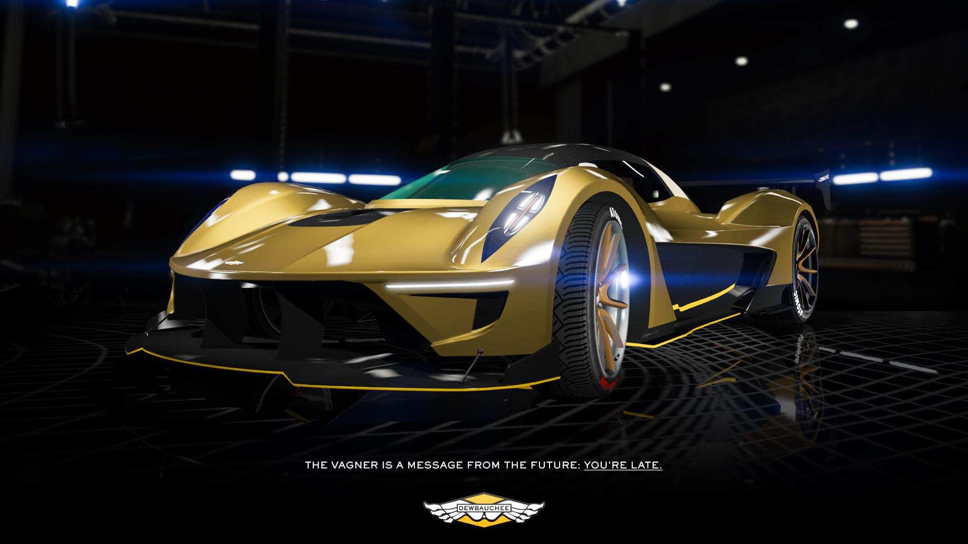 New In GTA Online: The Dewbauchee Vagner Supercar, Dawn