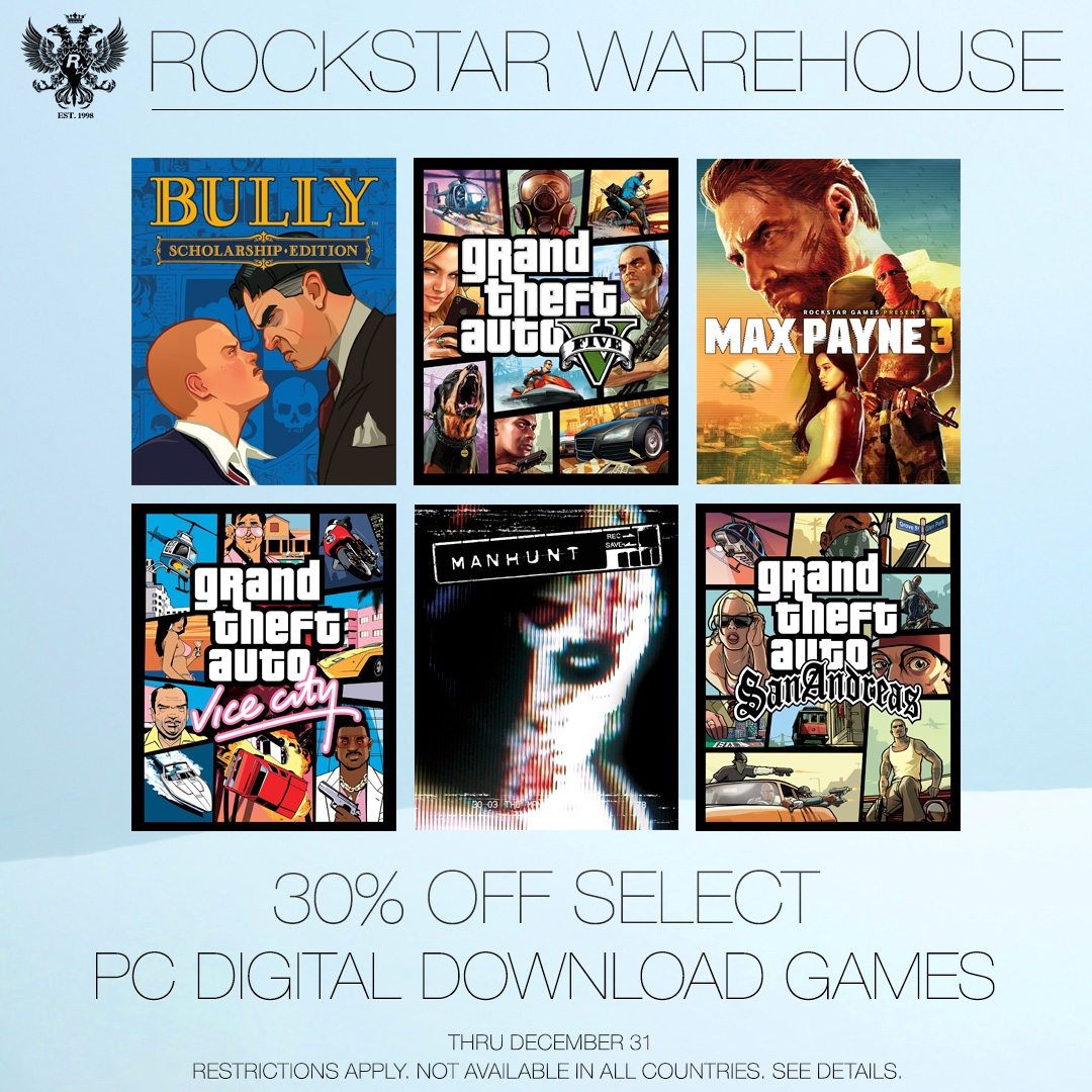 Rockstar Warehouse PC Digital Games Sale - Rockstar Games