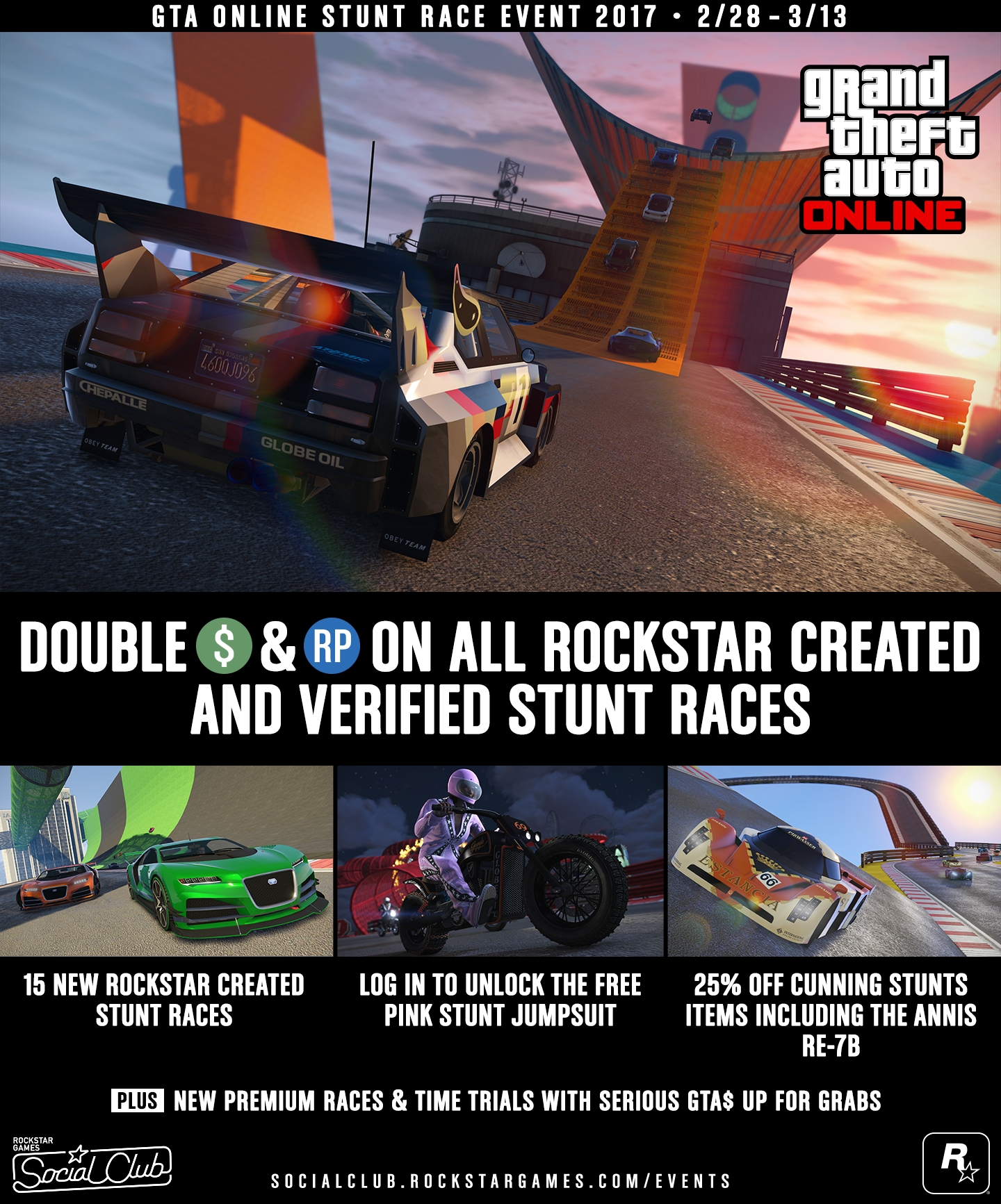 GTA Online Stunt Race Event: New Races, Double Cash
