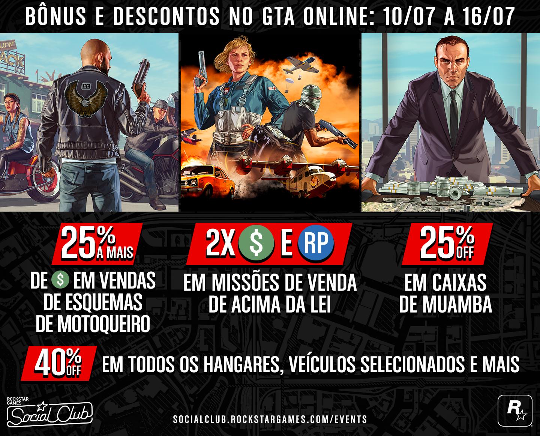 9206bf290 Recompensas da Lista de Convidados e Bônus no GTA Online - Rockstar ...