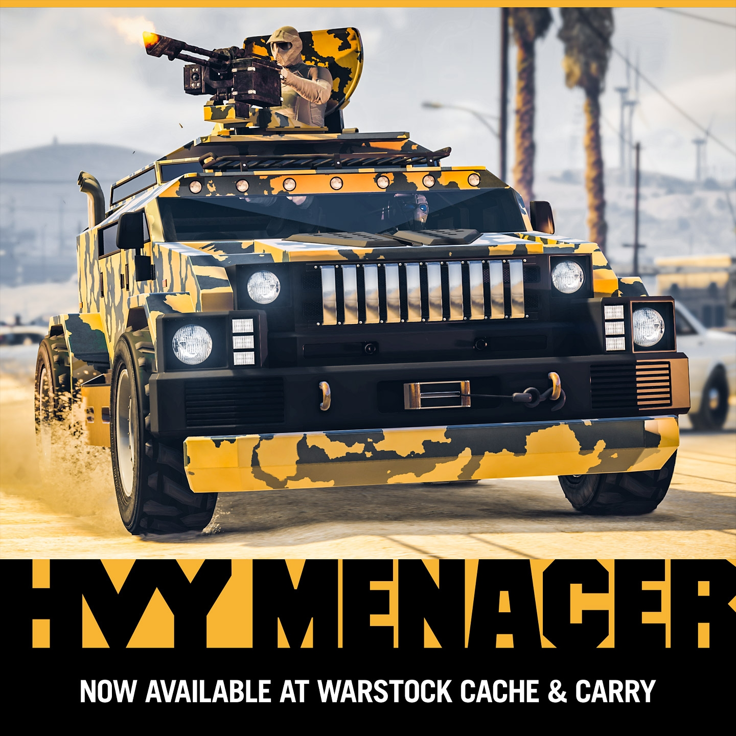 The HVY Menacer Weaponized Vehicle - Rockstar Games