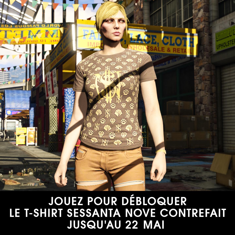 Faux t-shirt Sessenta Nove dans GTA Online