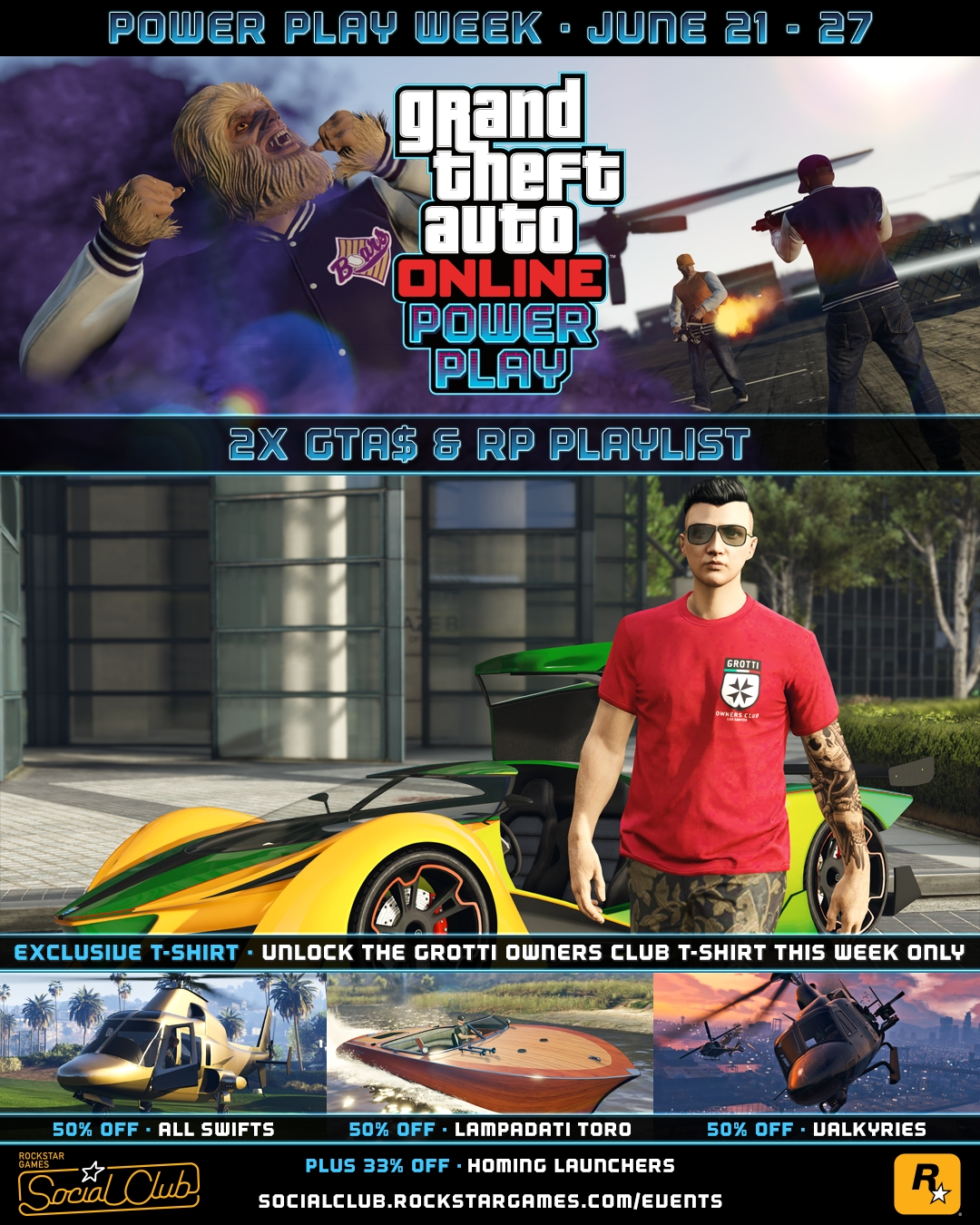 Gta Online Power Play And Grotti X Proto Now Available Rockstar Games