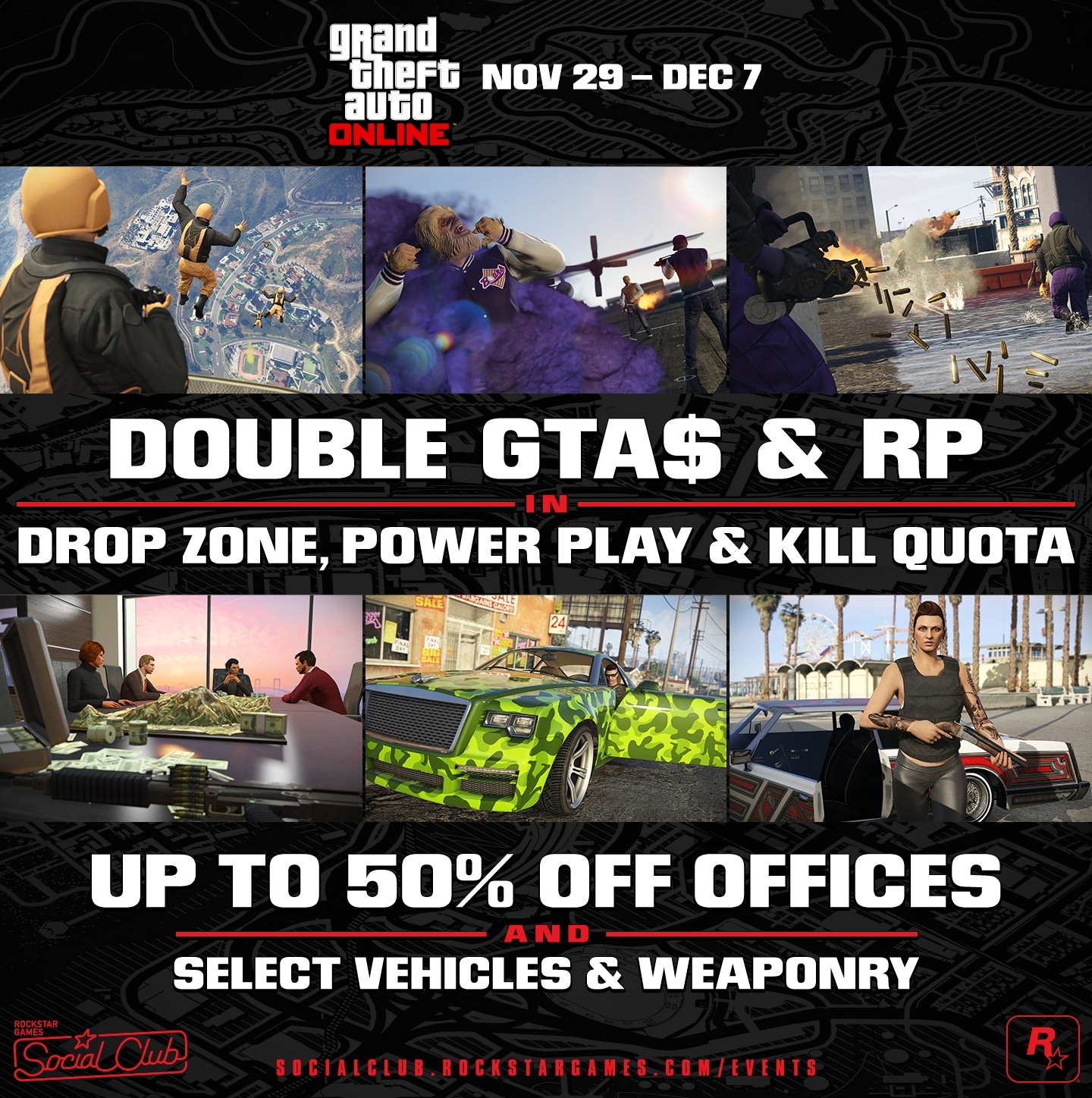 GTA Online: Double Cash Modes, Creator Tool Update & More