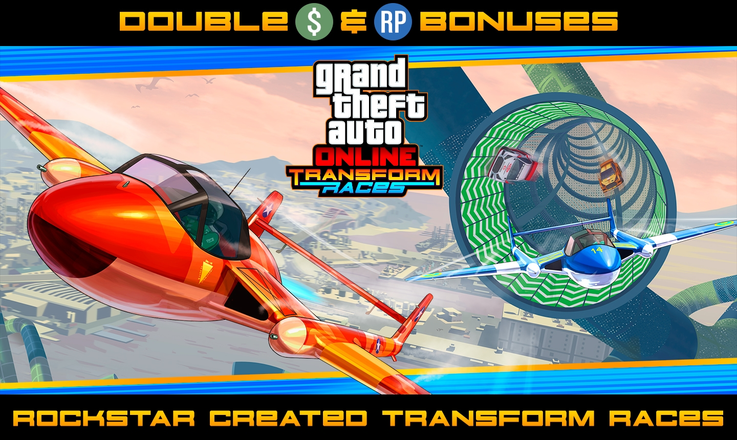 double gta rp on rockstar transform races and biker contracts plus cargo bonuses discounts on heavy duty vehicles and more