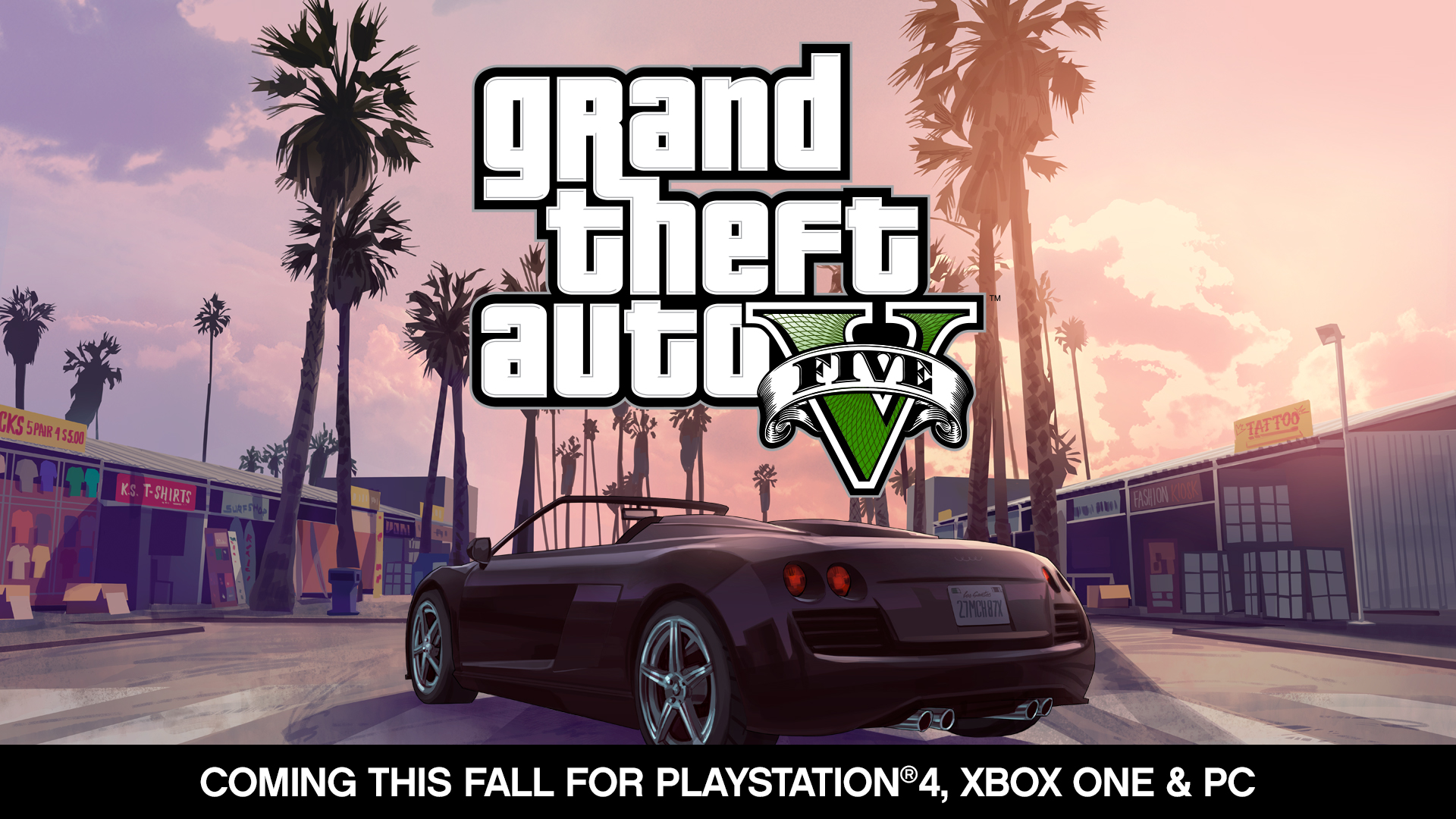 grand theft auto v coming this fall to playstation 4 xbox one and pc rockstar games. Black Bedroom Furniture Sets. Home Design Ideas