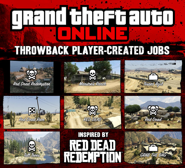 GTA Online Creator Throwback Jobs: Red Dead Tribute Special