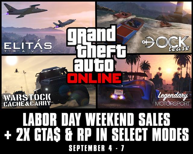 6f3196b7b Labor Day Weekend Sales Plus Bonus GTA    RP in GTA Online  September 4th –  7th