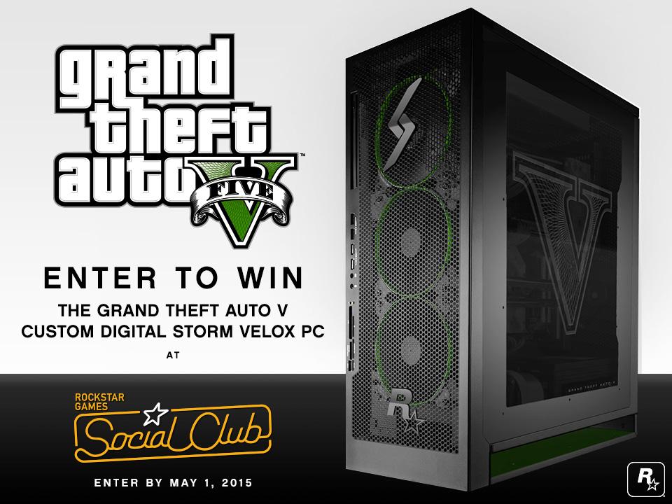 Enter to Win a Deluxe GTAV Custom Digital Storm Velox PC - Rockstar