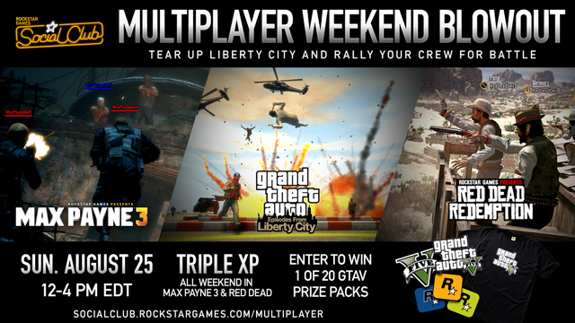 tear up liberty city and rally your crew for battle during our social club multiplayer event. Black Bedroom Furniture Sets. Home Design Ideas