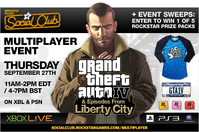 Grand Theft Auto IV: Complete Edition Social Club Multiplayer Event