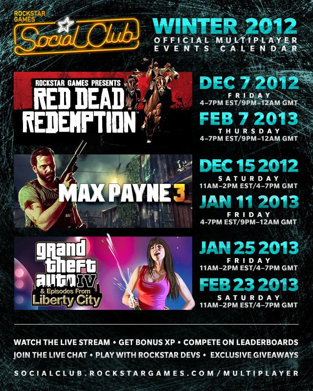 The Winter Multiplayer Events Calendar Featuring Max Payne 3