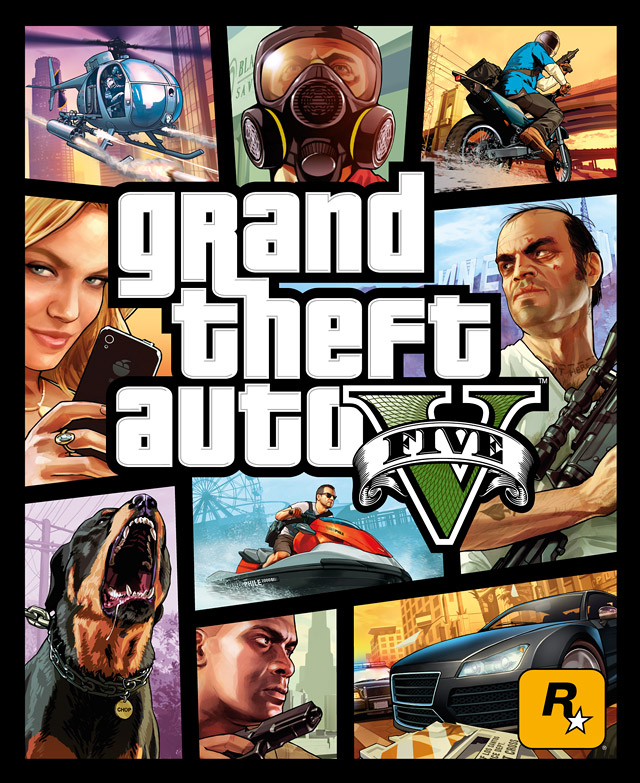Grand Theft Auto V Official Cover Art Rockstar Games