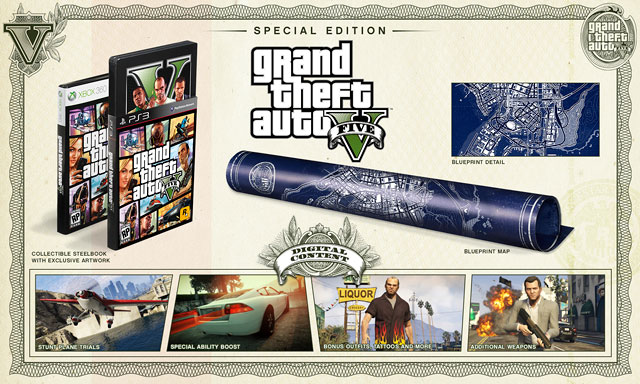 Announcing the Grand Theft Auto V Special Edition and Collector's