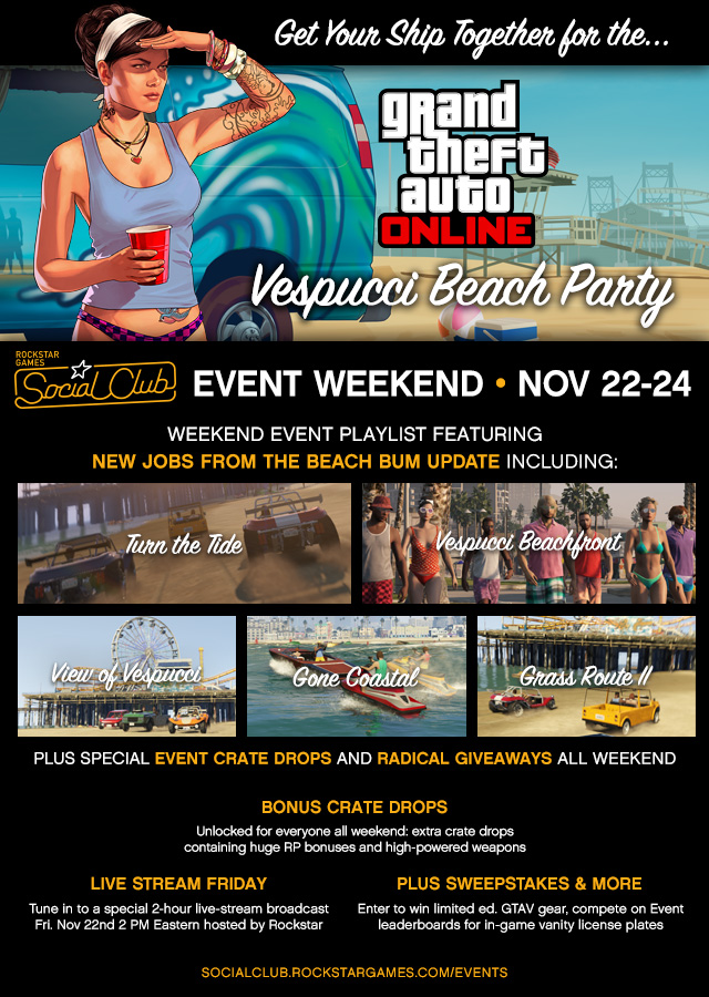 GTA Online Social Club Event Weekend