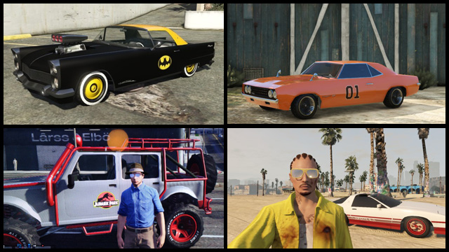 Fan Pics Famous Rides Of Film And TV Invade GTA Online Uncanny - Cool cars gta online