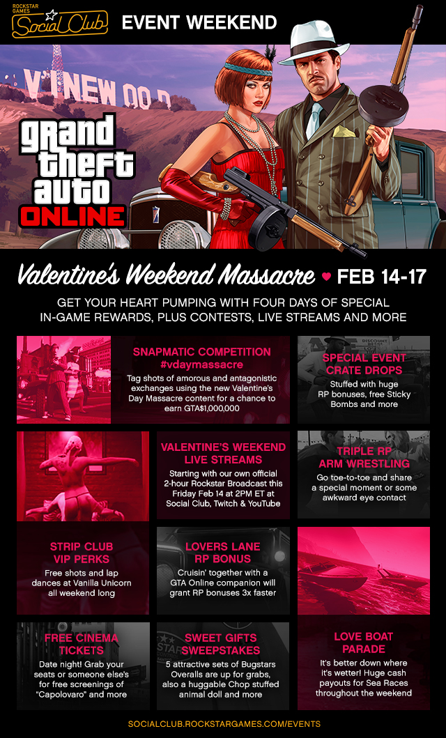 The Valentine S Weekend Massacre Social Club Online Event Rockstar