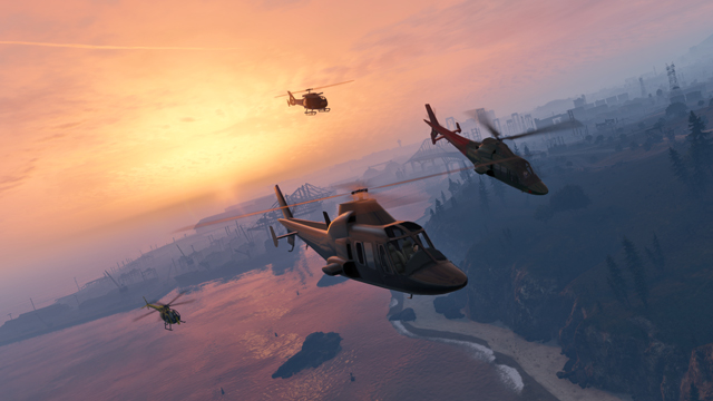 Rockstar verified update 10 new cloud piercing air races helicopters follow the coastline of east los santos in dedalus sciox Image collections