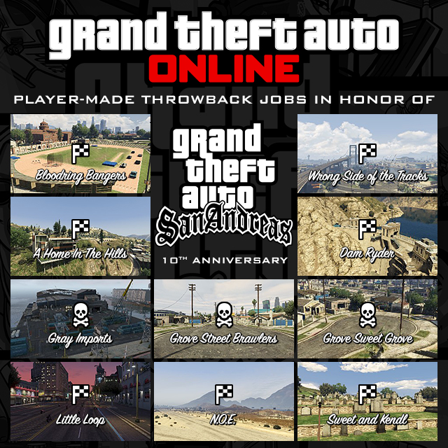 GTA Online Creator Throwback Jobs: San Andreas Anniversary Special