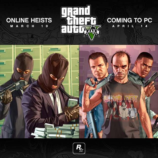 GTA 5 Heists and PC Release Dates