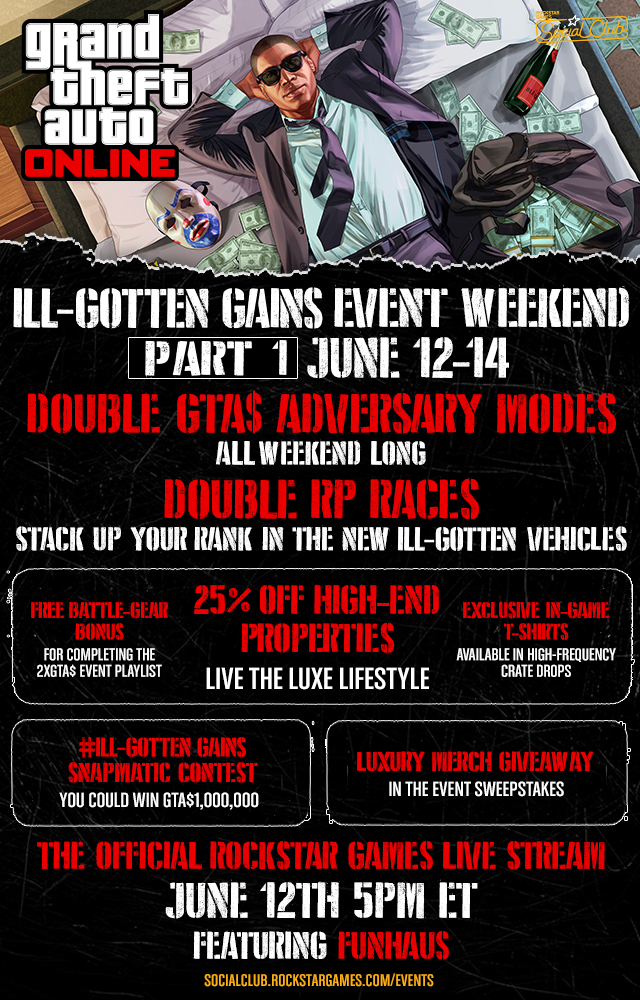 GTA 5 Ill-Gotten Gains Event Weekend