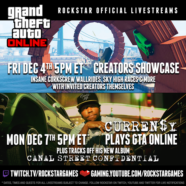 Rockstar Livestreams feat GTAV Soundtrack's CURREN$Y & A Creators
