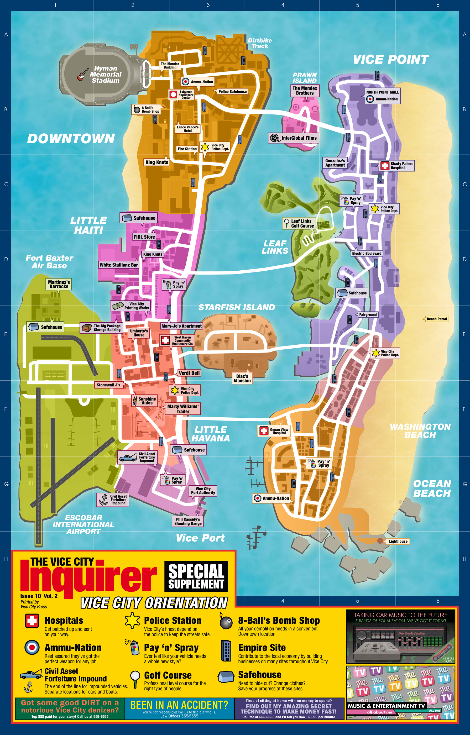 Vice City Map Download High Res Maps for Liberty City Stories and Vice City