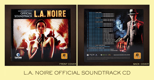L A Noire Official Soundtrack Cd Now Available At The