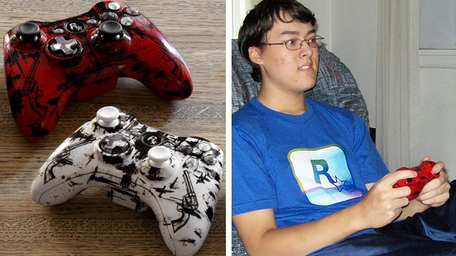 winner of customized red dead redemption xbox 360 controllers
