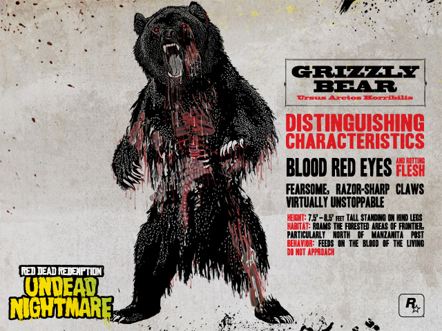 Where Is The Chupacabra In Red Dead Redemption Undead Nightmare: Undead Nightmare's Zombie Predators: Grizzly Bears